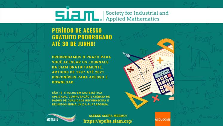 Acesse gratuitamente os journals da SIAM por 90 dias